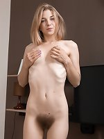 You�d never believe the blond has such a hairy bush
